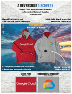 Google Cloud New, Unique Reversible Sweatshirts